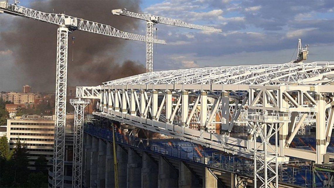 Hubo un incendio en el estadio del Real Madrid.