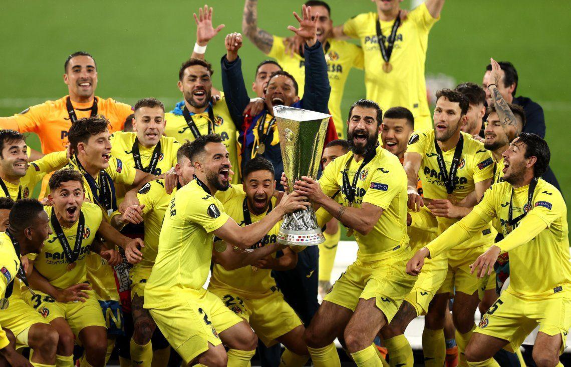 Villarreal le ganó en la final al Manchester United y se consagró campeón de la Europa League