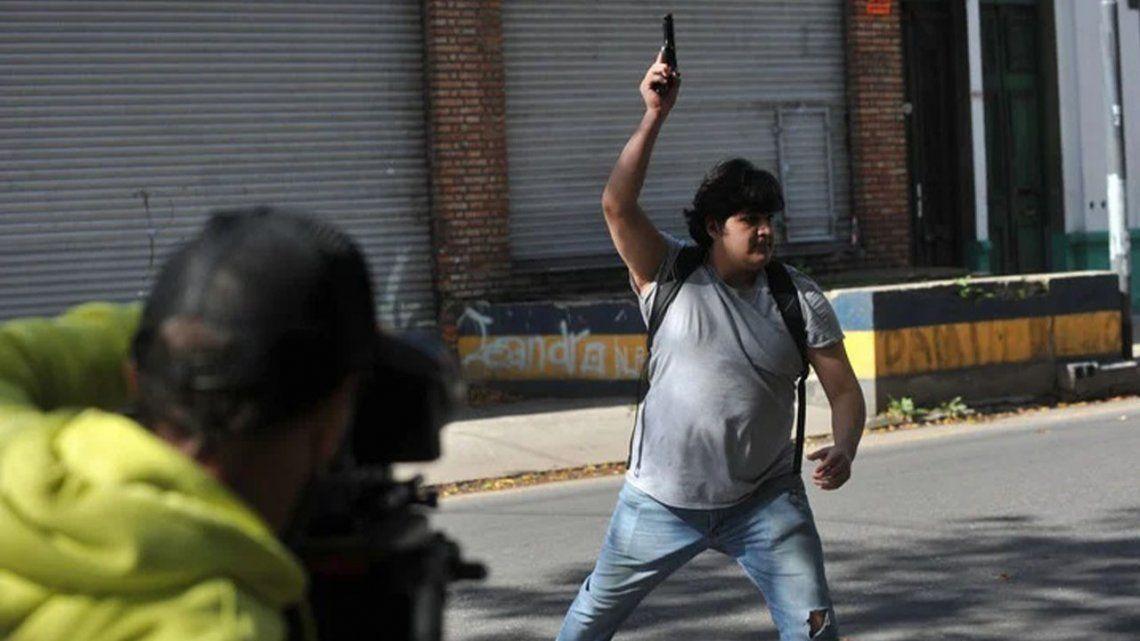Luis Chocobar presentó un video para demostrar su inocencia. FotoGuillermo Rodríguez Adami.