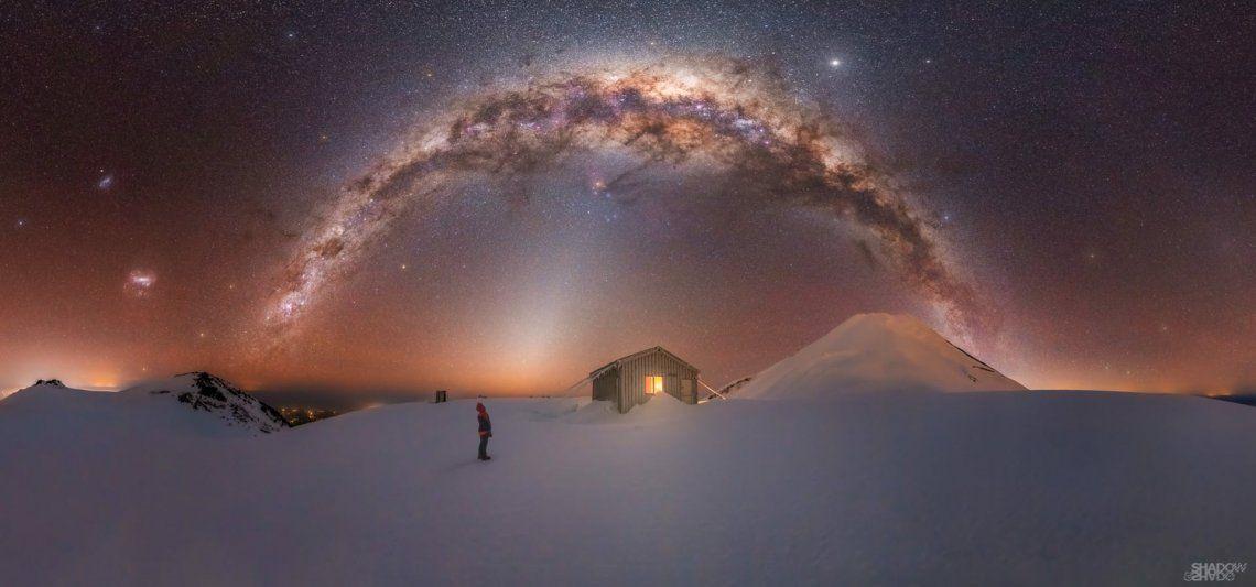 Vía Láctea del Monte Taranaki - Larryn Rae Pico Fanthams