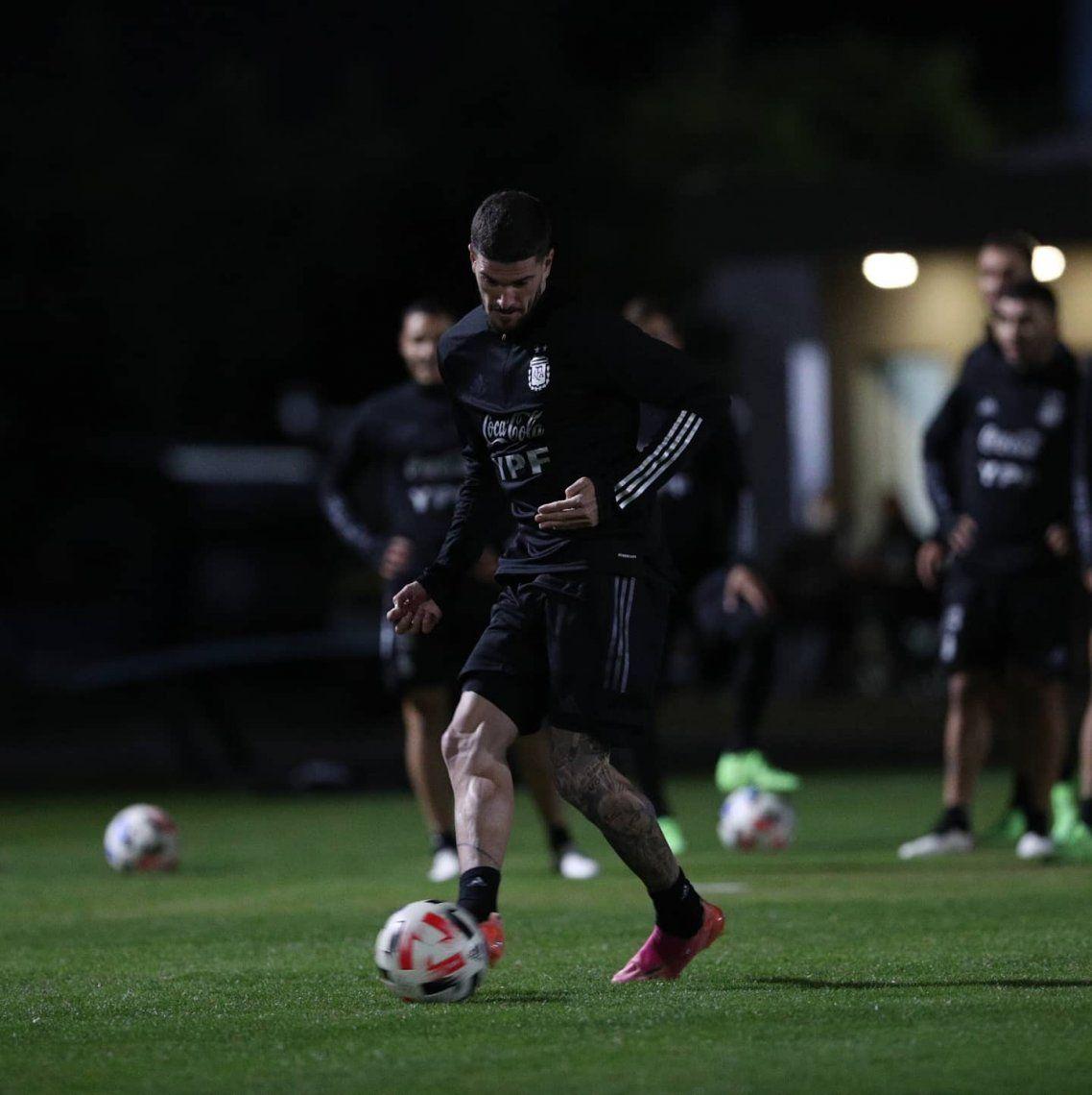 La Selección Argentina se prepara para enfrentar a Chile
