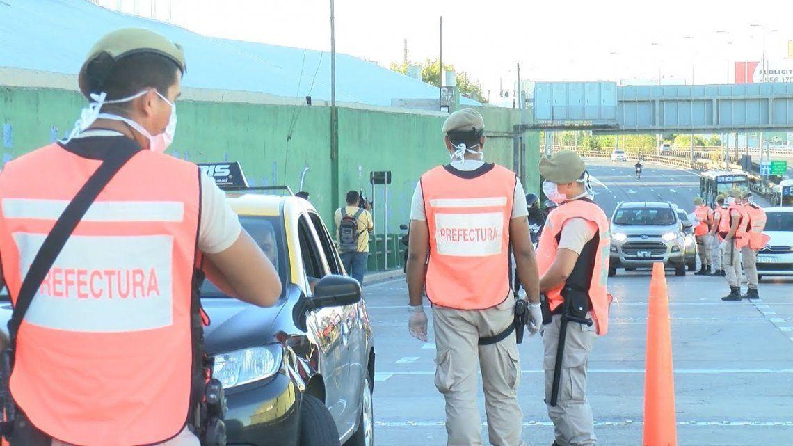 Los accesos a la Ciudad fuertemente controlas por las Fuerzas de Seguridad