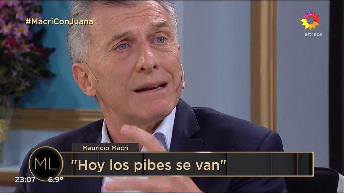 Mauricio Macri habló de todo en el programa de Juana Viale