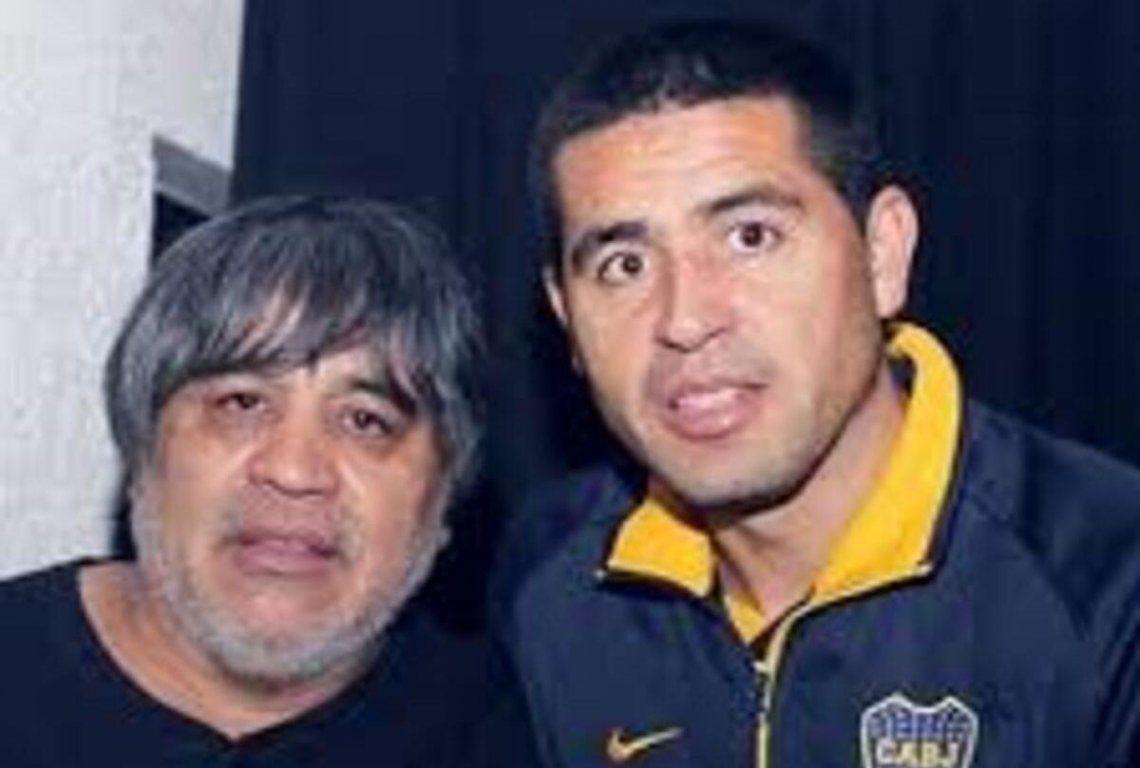 Juan Román Riquelme y su padre Cacho.