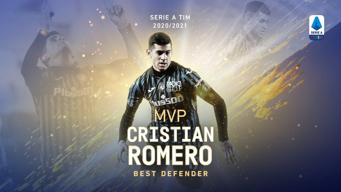 Un argentino fue elegido el mejor defensor de la Serie A