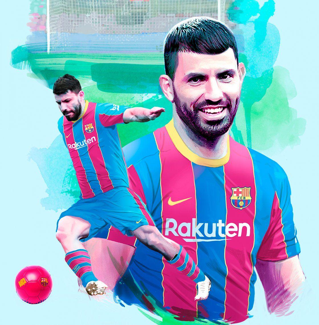 Agüero fue anunciado como jugador del Barcelona