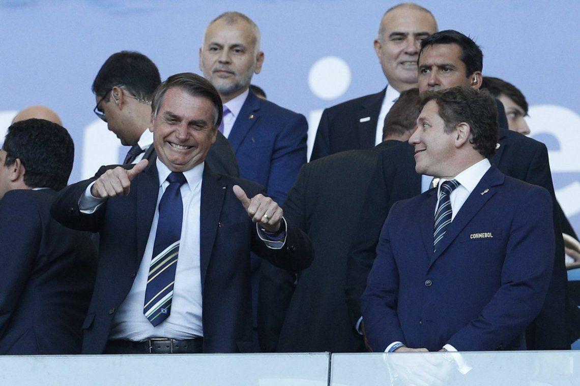 Bolsonaro junto Domínguez durante la Copa América 2019.