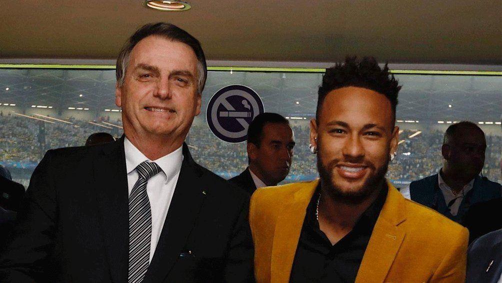 Bolsonaro y Neymar.