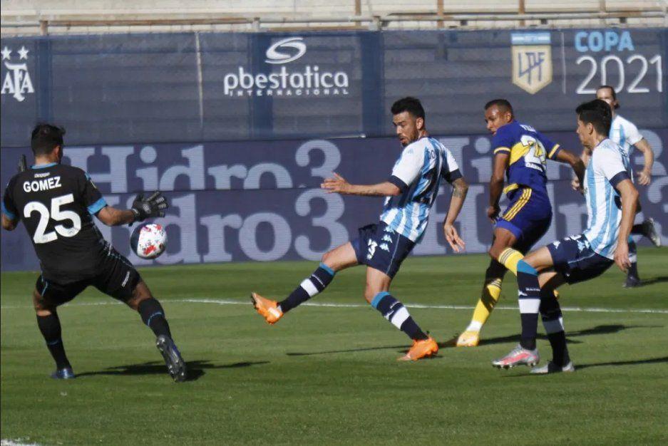 Gastón Gómez fue de lo más destacado de un Racing que es finalista de la Copa de la Liga.