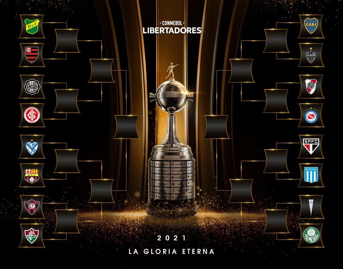 Copa Libertadores: se sortearon los octavos y podría haber Superclásico en cuartos