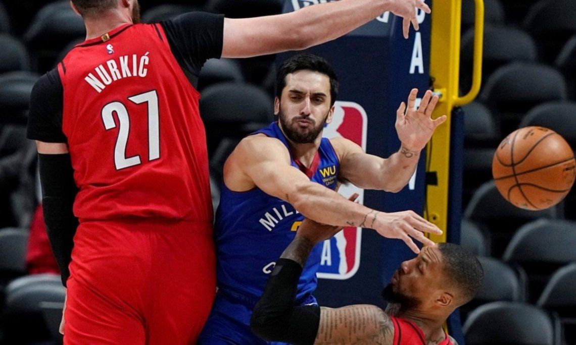 NBA: triunfazo de Denver, con un flojo partido de Campazzo