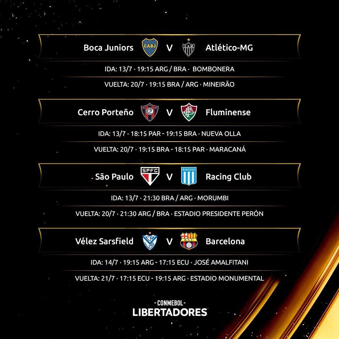 Copa Libertadores: confirman programa de octavos de final