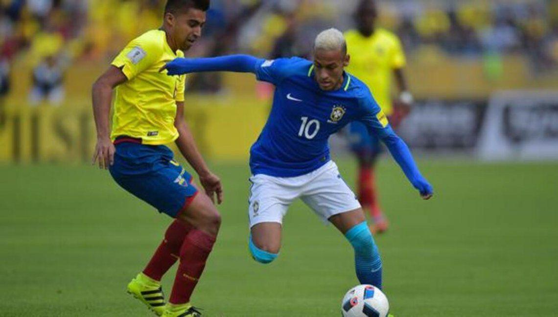 Brasil y Ecuador juegan por las eliminatorias en Porto Alegre