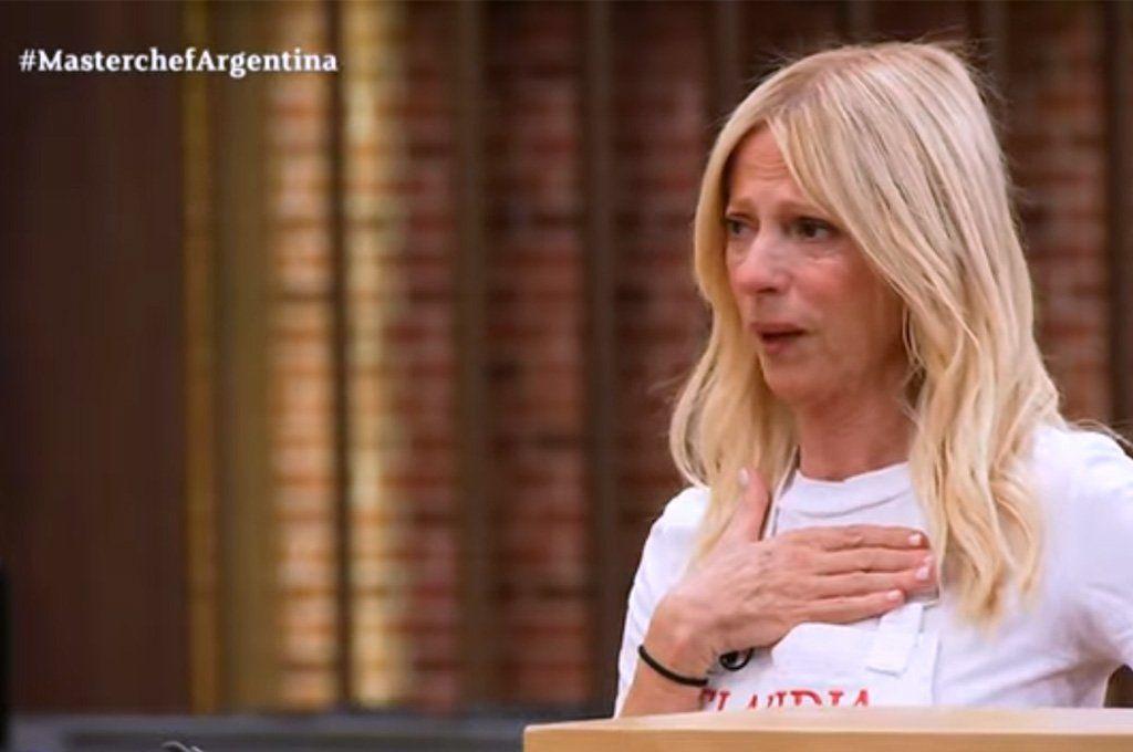 El llanto de Claudia Fontán le dio pico de rating a Masterchef