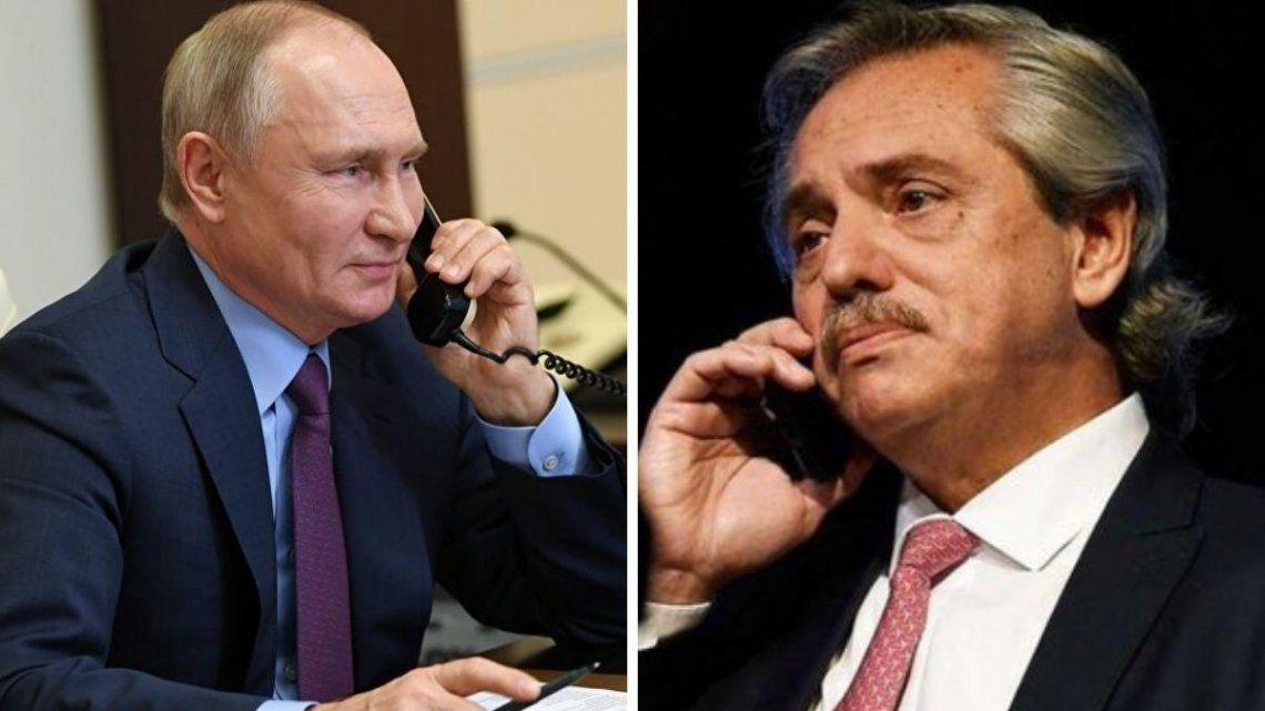 El presidente Alberto Fernández y su par de la Federación Rusa