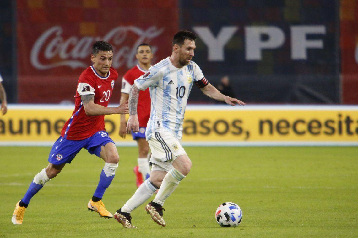Las mejores fotos del empate entre Argentina y Chile