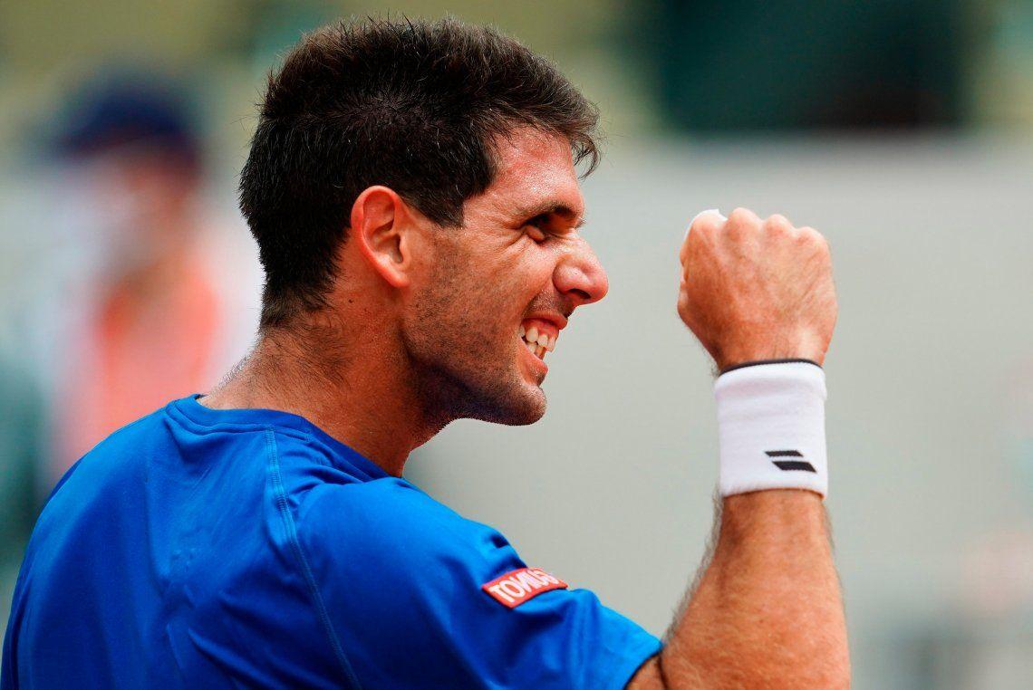 Federico Delbonis se metió por primera vez en los octavos de final de un Grand Slam