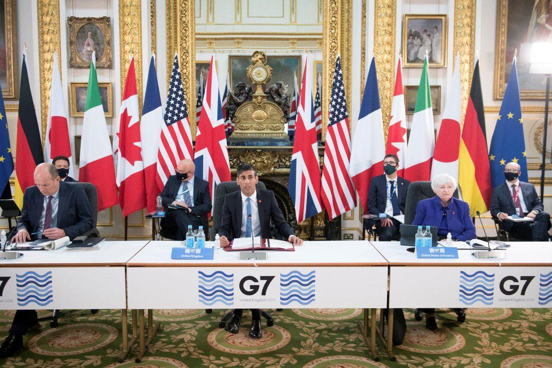 Reunión de ministros de Econmía del G7 en Londres