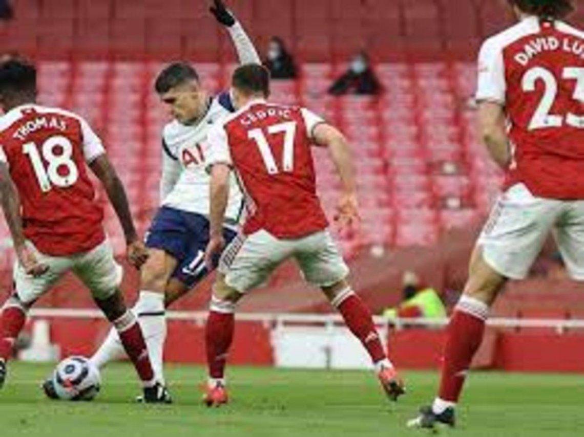 Golazo de Lamela ante Arsenal.