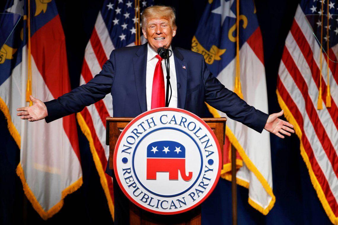 Trump reapareció en un acto del partido republicano en Carolina del Norte.
