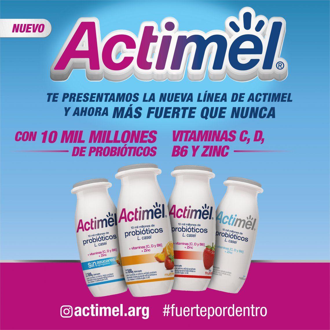 Danone renovó su línea de productos Actimel
