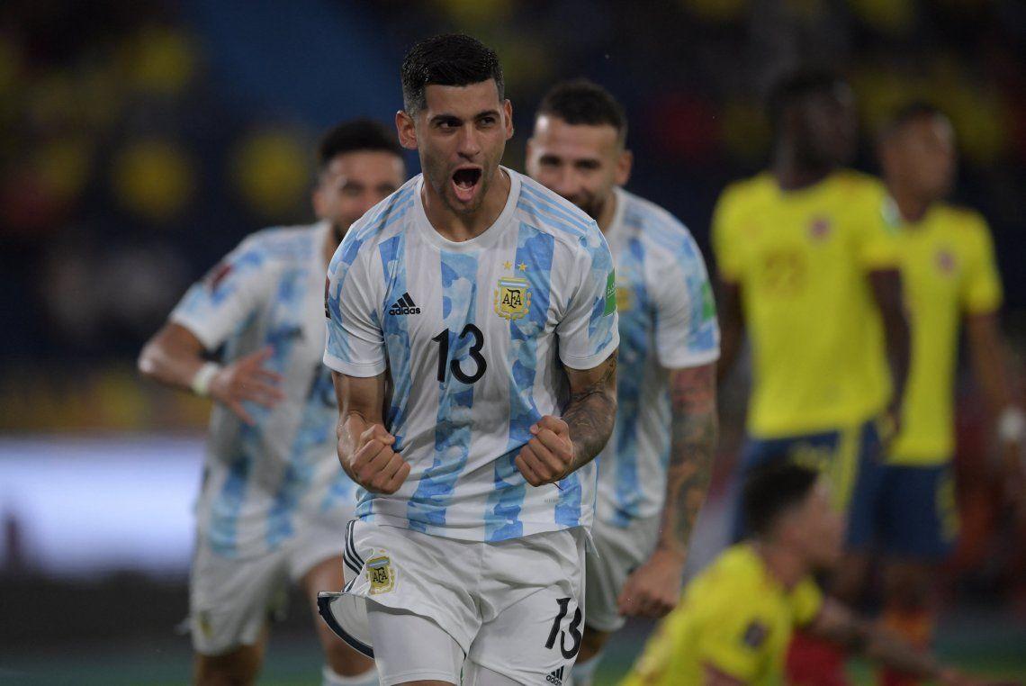 Cristian Romero abrió el marcador para Argentina a dos minutos del inicio