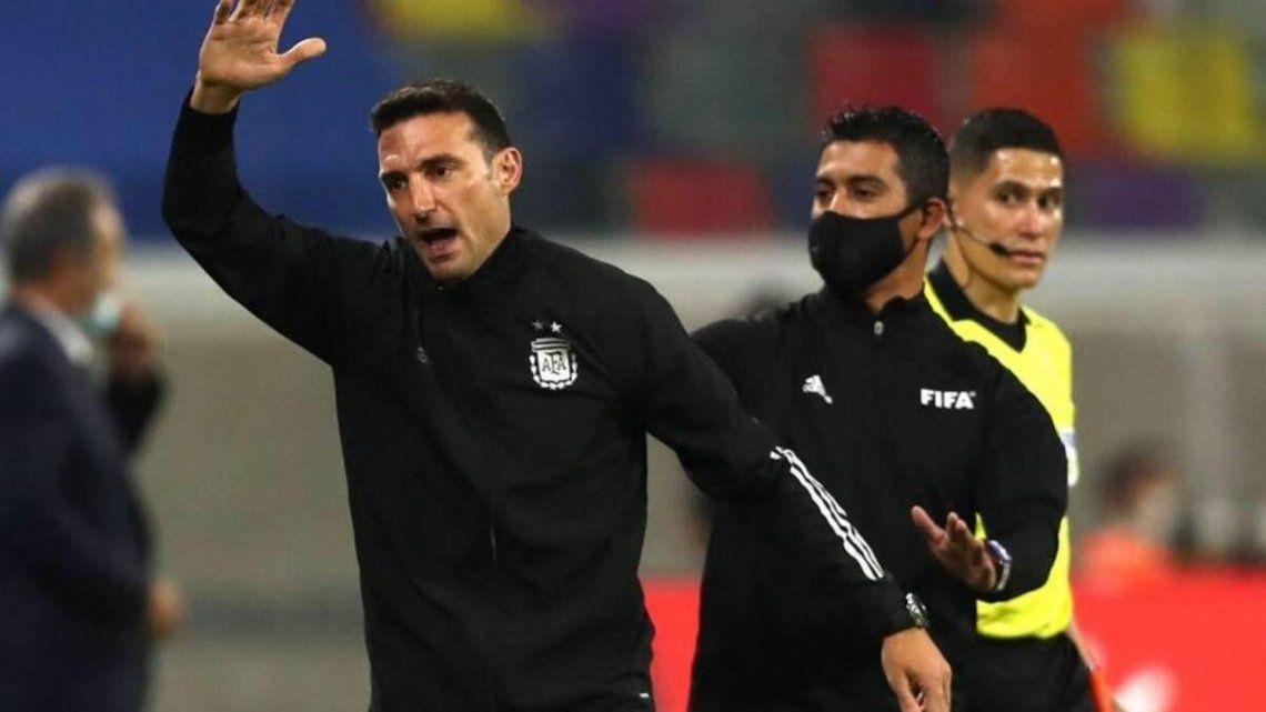 Lionel Scaloni habló luego del empate ante Colombia.