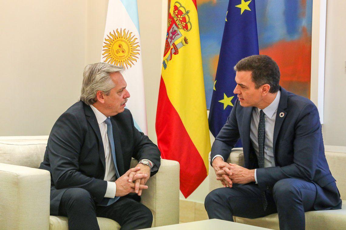 Alberto Fernández recibe hoy a su par de España en Casa Rosada