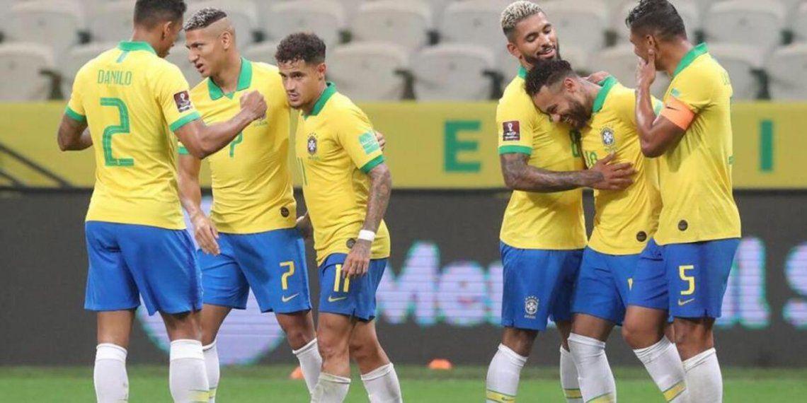 El plantel de Brasil en contra de la Copa América