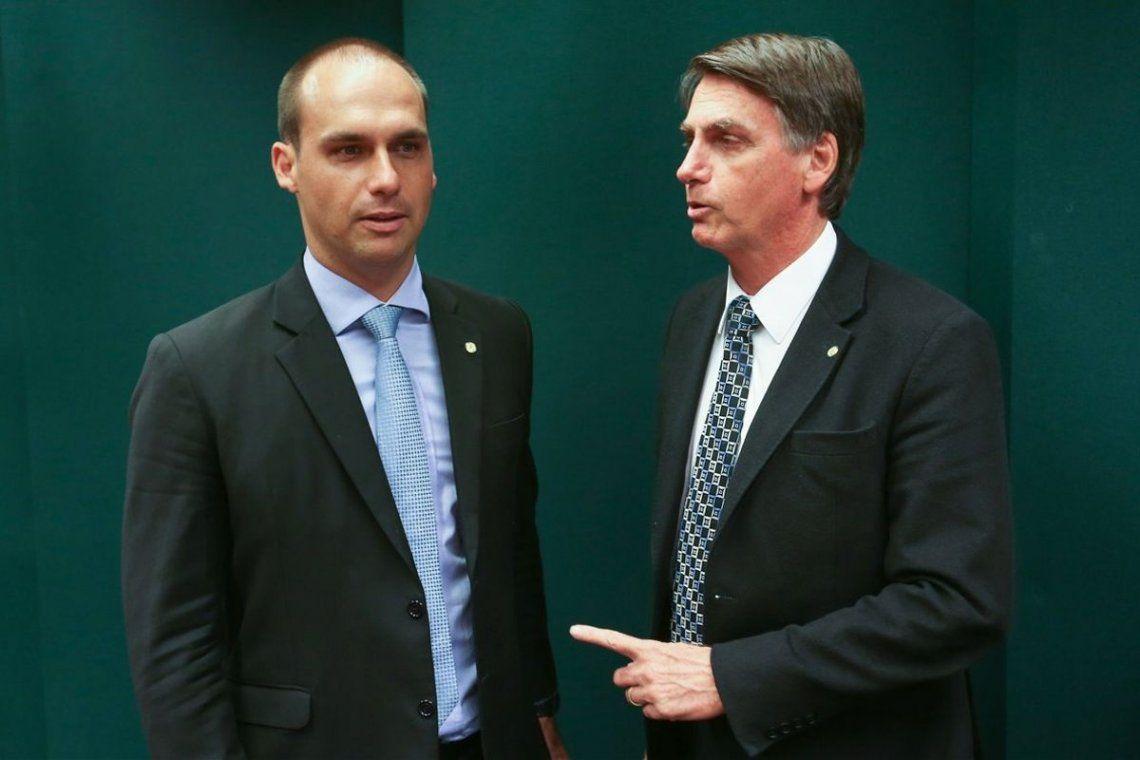 Eduardo Bolsonaro le respondió a Alberto Fernández tras sus polémicos dichos.