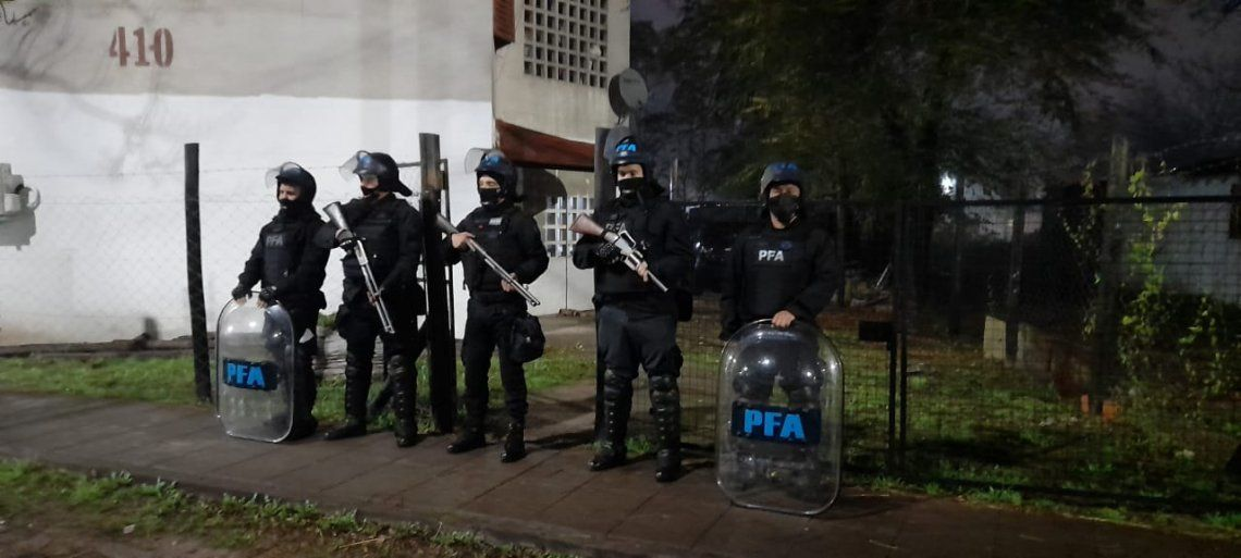 Operativo de la Policía Federal.