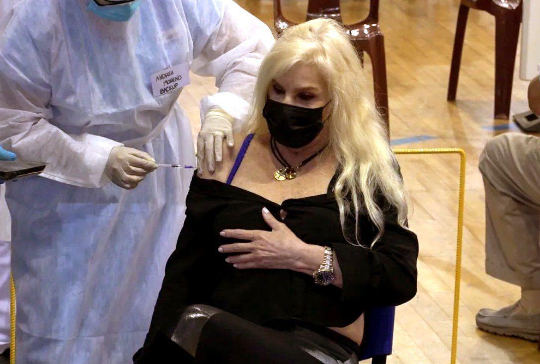 Susana Giménez fue vacunada en Uruguay
