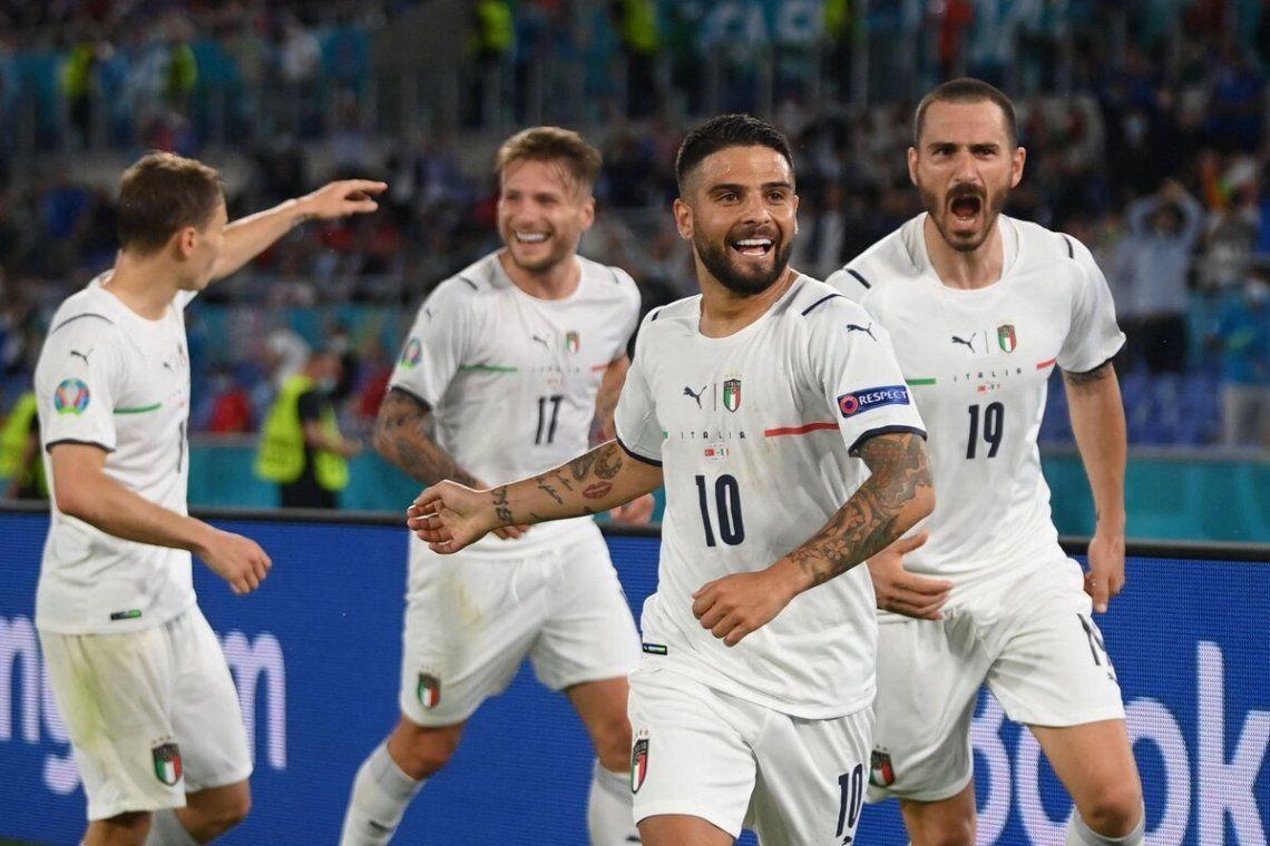 Insigne anotó el 3-0 final de Italia ante Turquía.