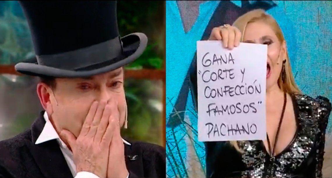 El momento en el que se conoce que Aníbal Pachano es el ganador de Corte y confección famosos.