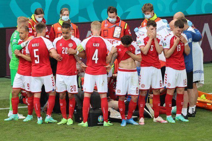 Eurocopa: Se desmaya un jugador danés en medio de un partido
