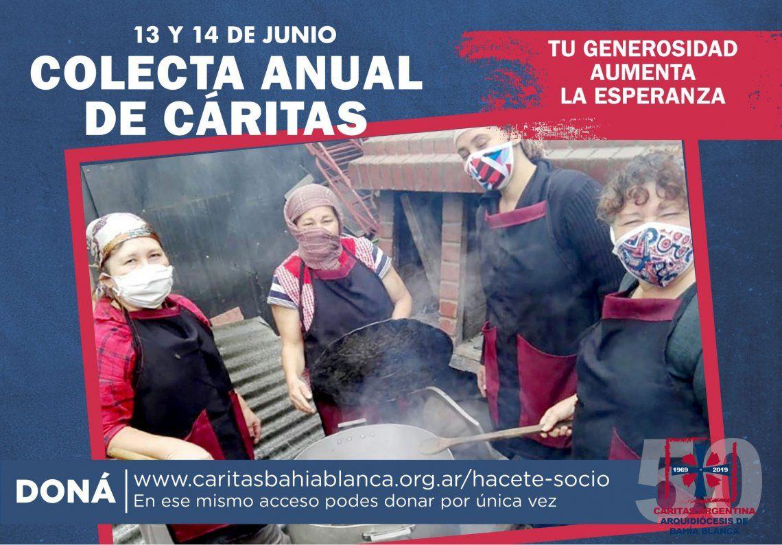 La colecta de Caritas es a través de los distintos medios digitales y de la página de la organización.