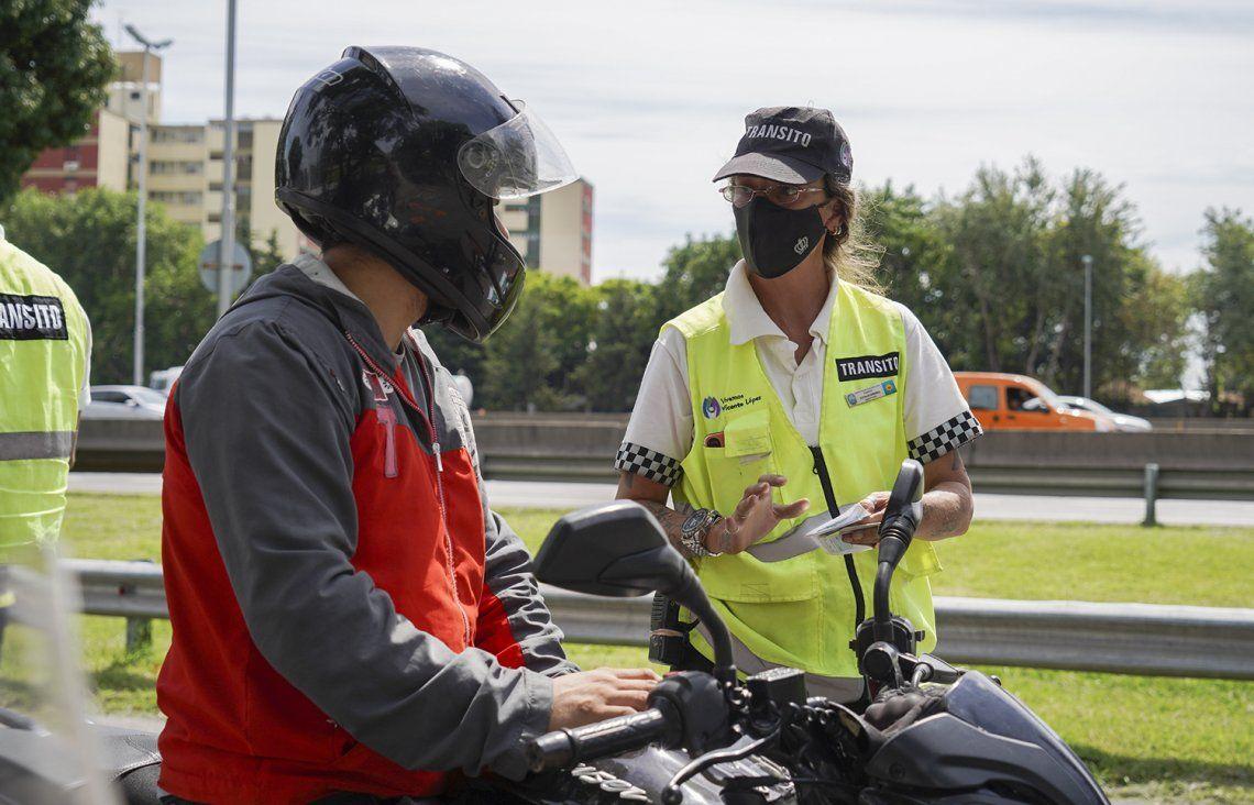 Continúan los controles de motos en Vicente López