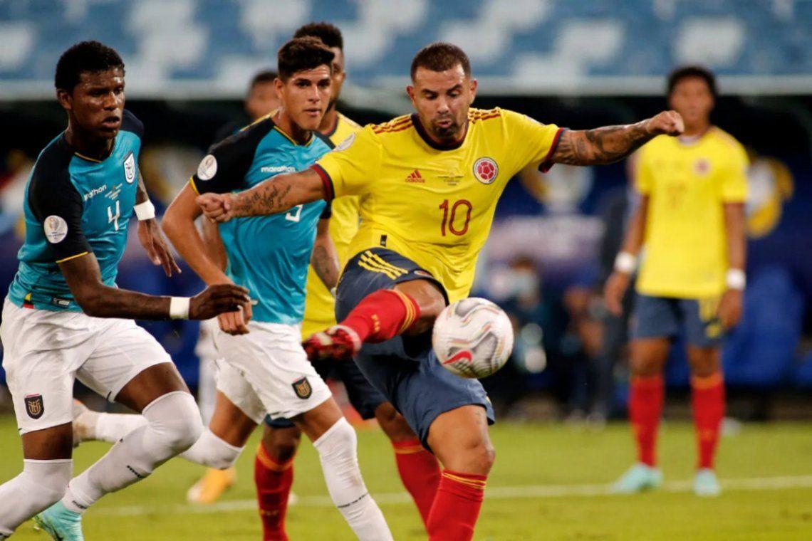 Edwin Cardona anotó el gol de Colombia.