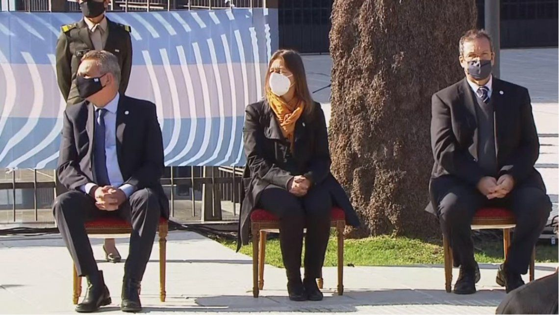 Rossi compartió el acto junto a la ministra de Seguridad Sabina Frederic.