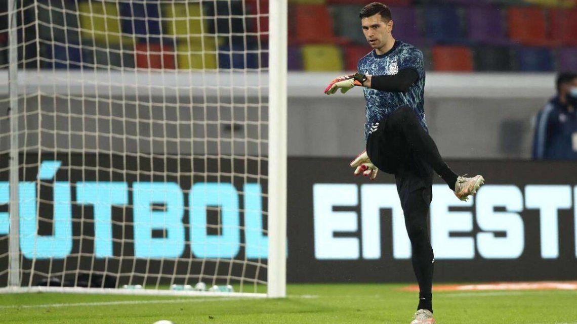 Emiliano Martínez habló luego del empate de Argentina.