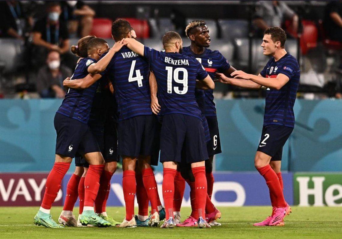 Francia venció 1-0 a Alemania en el Eurocopa.