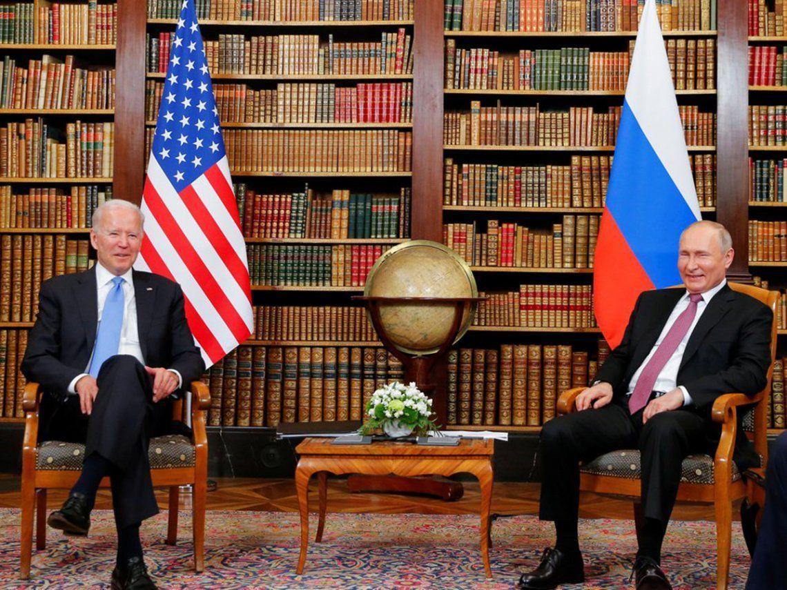 Joe Biden y Vladimir Putin iniciaron en Ginebra