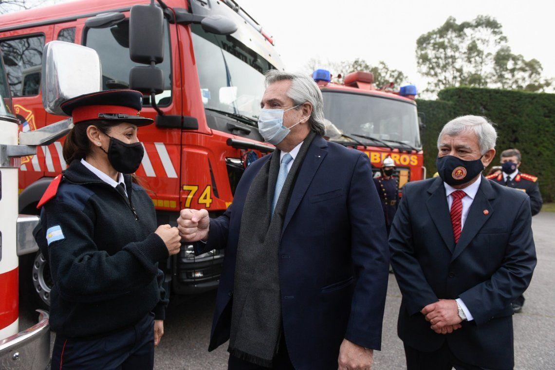 El presidente Alberto Fernández encabezó el acto en las residencia de Olivos.