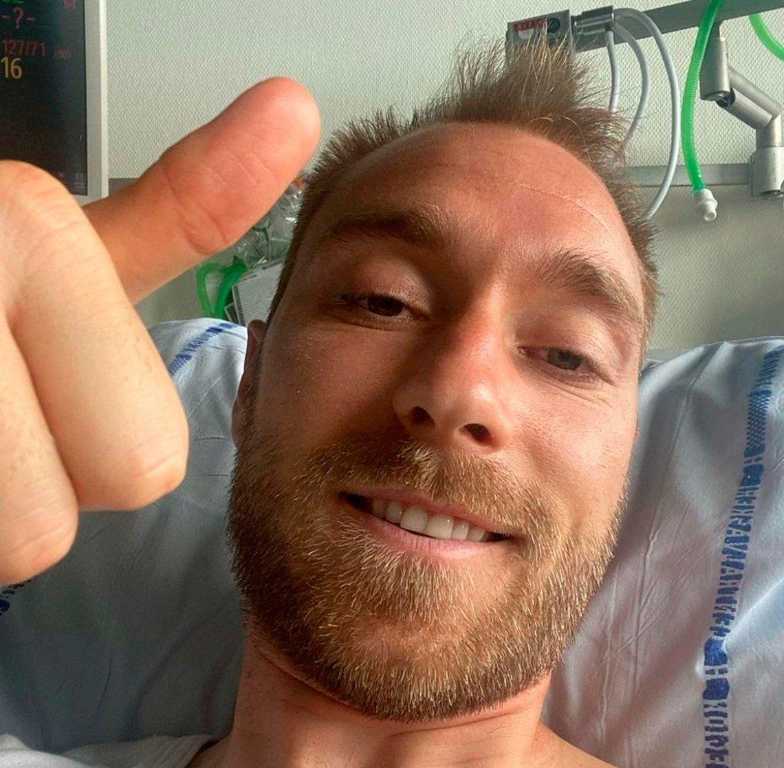 El danés Eriksen recibió el alta tras una exitosa operación