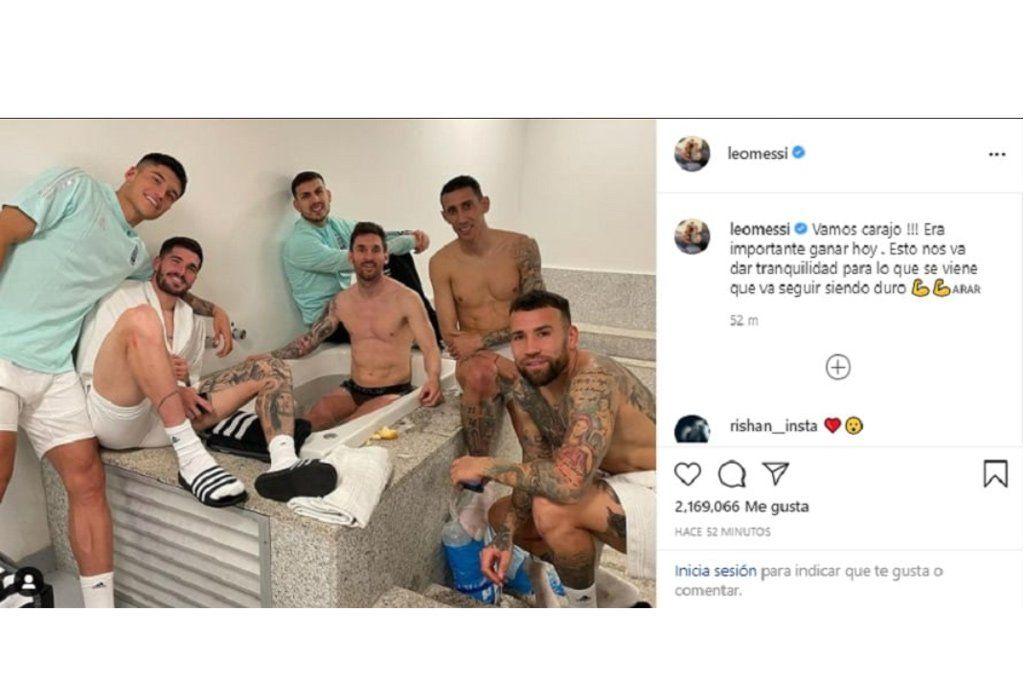 El celebrado posteo de Messi tras una noche en la que dejó todo