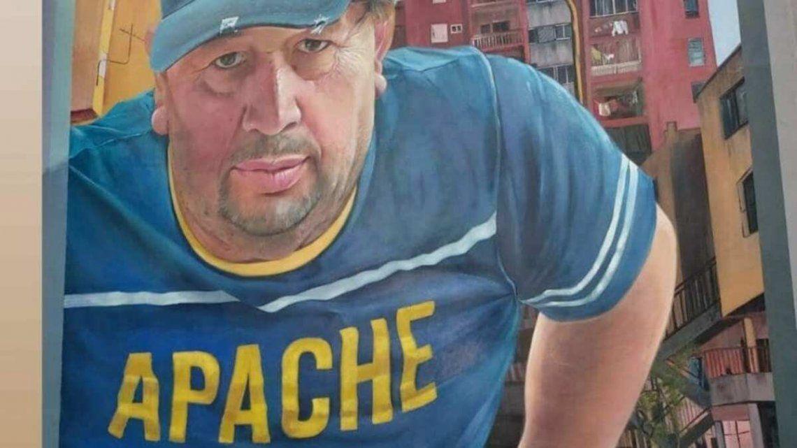 El mural del papá de Carlos Tevez.
