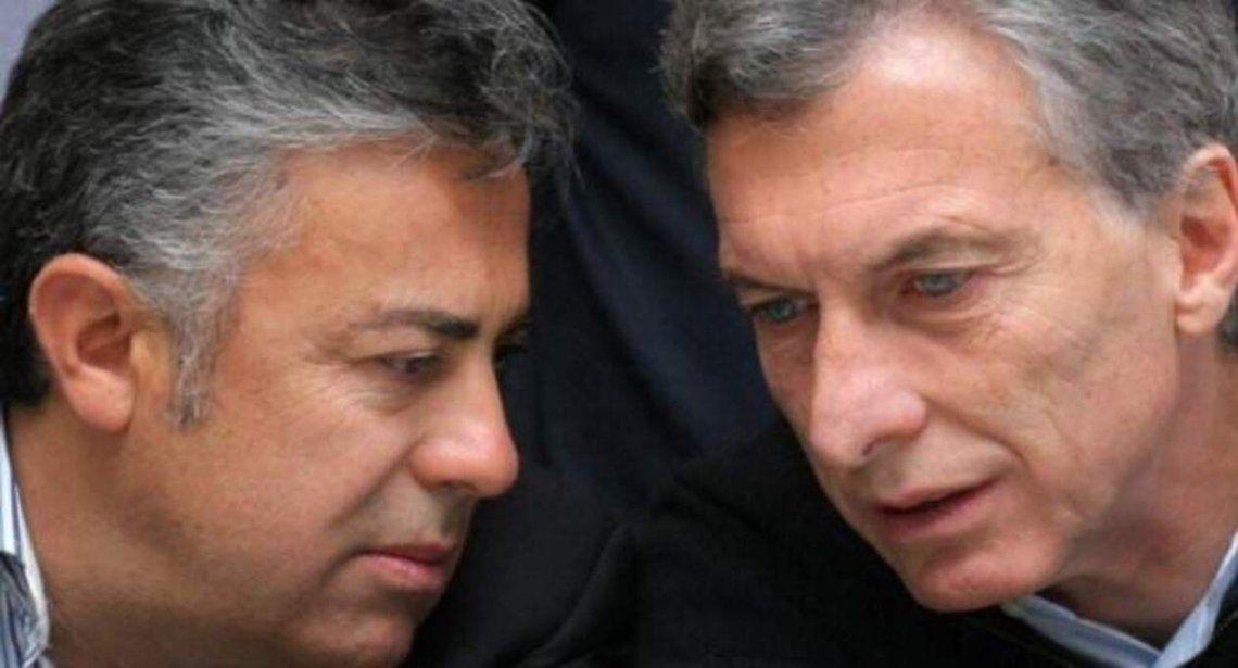 Alfredo Cornejo (UCR) y Mauricio Macri (PRO)