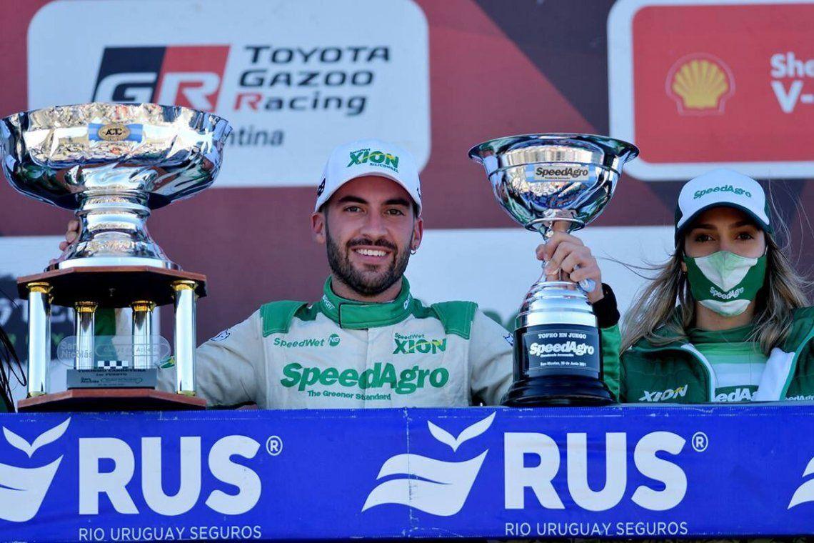 Julián Santero luego de su quinta victoria en TC.