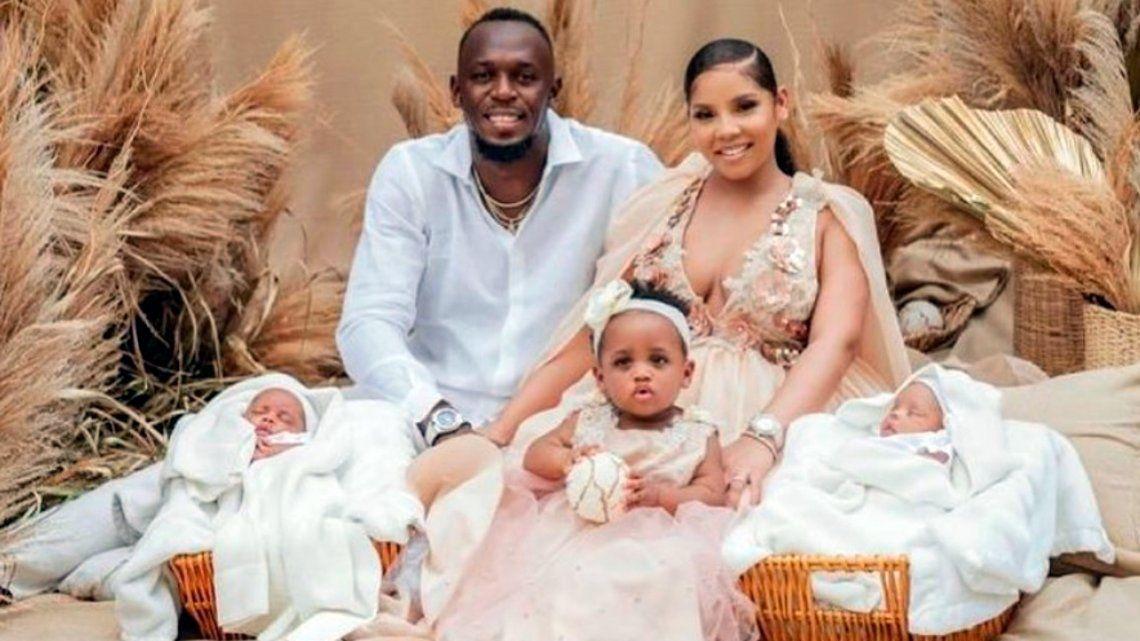 Usain Bolt fue papá de gemelos y les puso nombres muy particulares