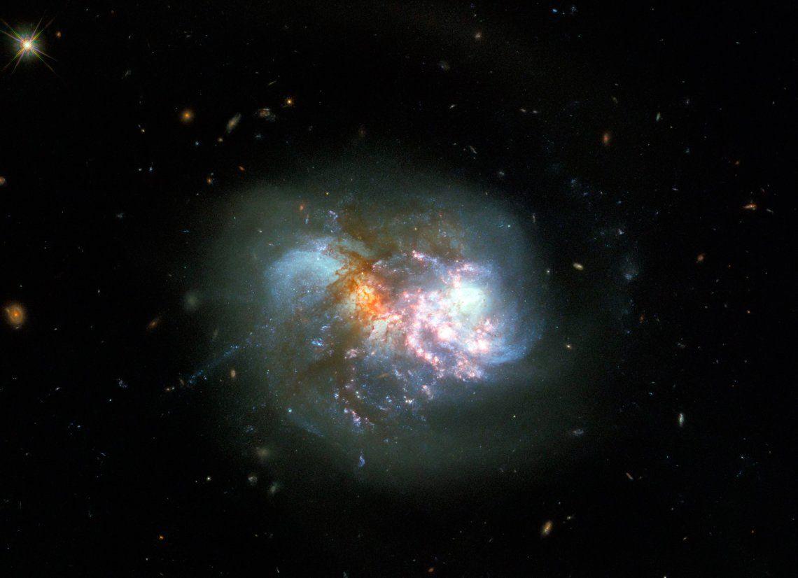 El telescopio Hubble capta una impactante colisión cataclísmica de galaxias